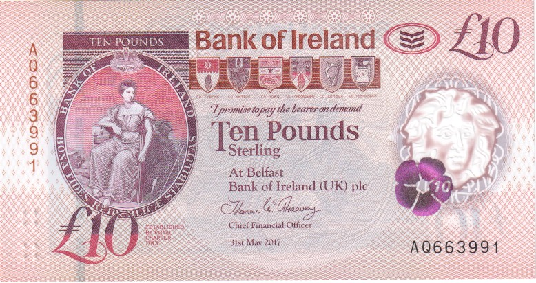 Bank Of Ireland 1 5 And 10 Pounds 2 3 2017