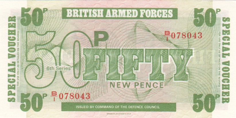 Great Britain Armed Forced 10 Pence 1972 Banknote World Paper Money UNC Bill