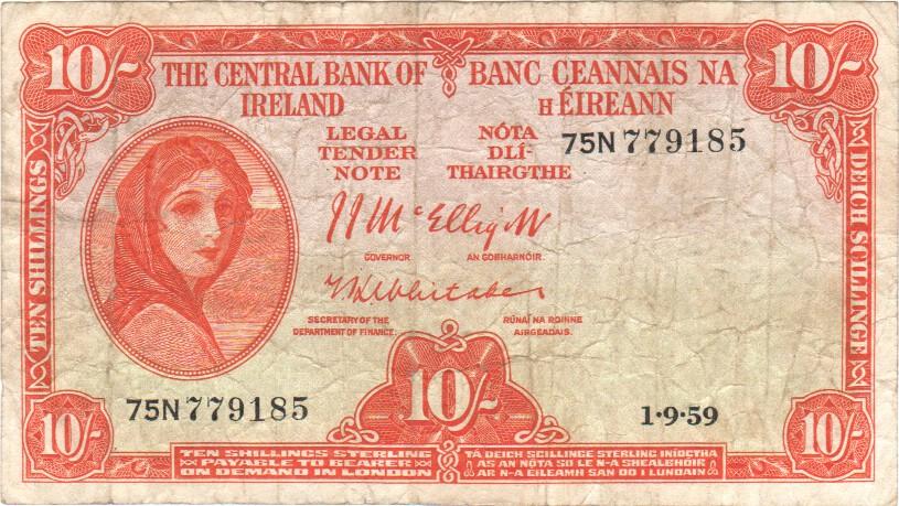 Southern Ireland 10 Shillings 1 9 1959