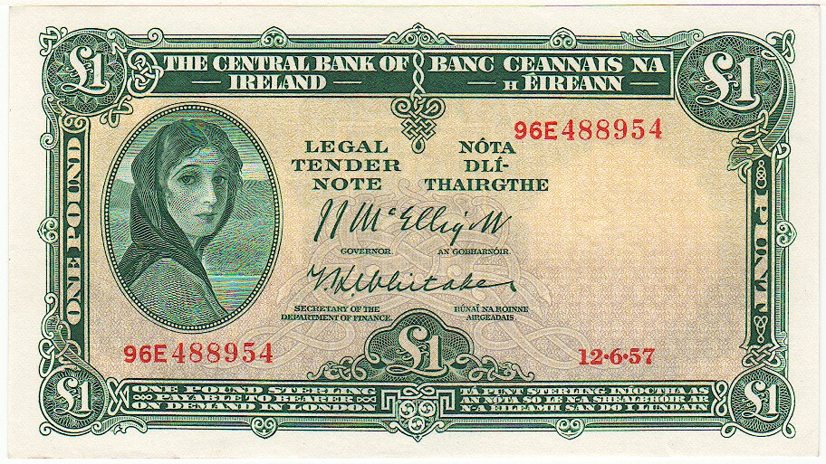 Southern Ireland 1 Pound 12 6 1957