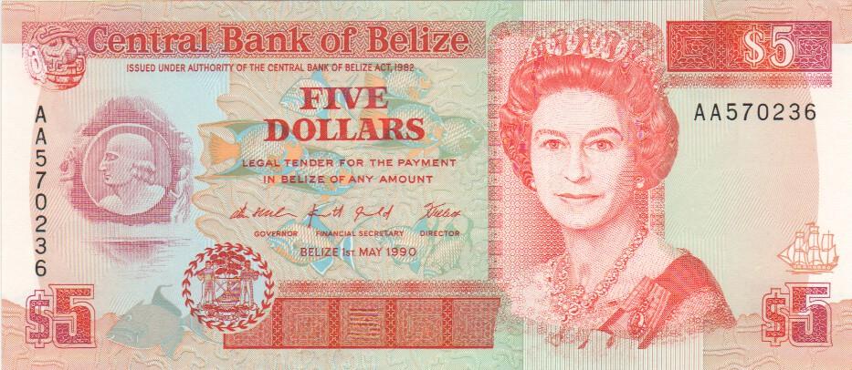 Belize 10 Dollars P-68d UNC 2011