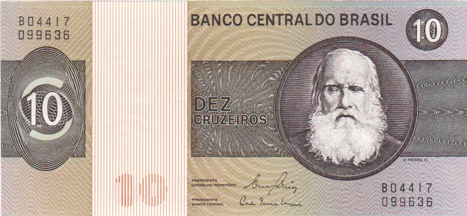 1990 BRAZIL ND UNC 200 Cruzeiros Banknote Money Bill P 225b Overprint on P-221