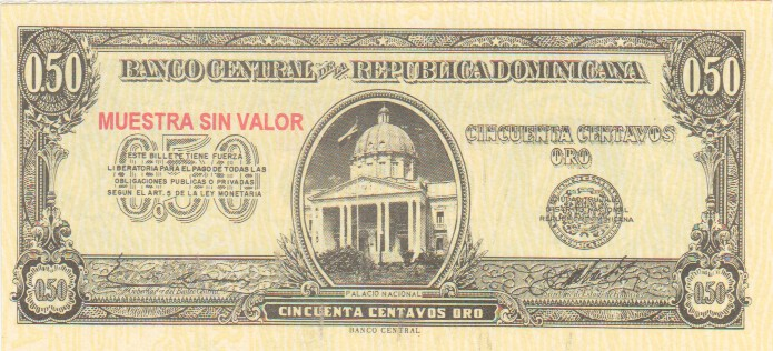Dominican Republic 50 Centavos 1961