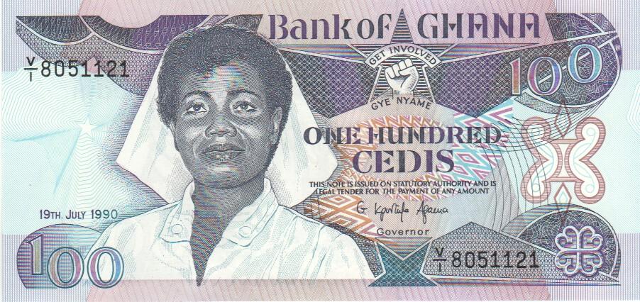Ghana 100 Cedis 19 7 1990