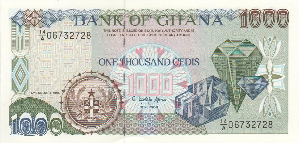 Ghana 1000 Cedis 6 1 1995