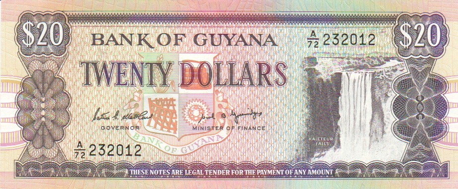 GUYANA BANK NOTE 50 DOLLARS UNC ND 2016 C